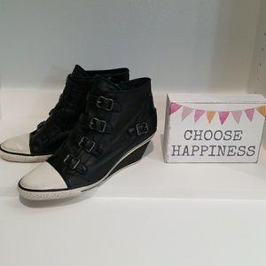 6bbf0ec058d7 Ash Shoes - Ash Genial Leather Wedge Sneaker Size 41